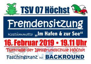 Fremdensitzung 2019 @ Turnhalle Höchst