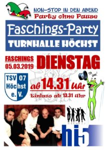 Non-Stop Faschingsparty @ Turnhalle Höchst
