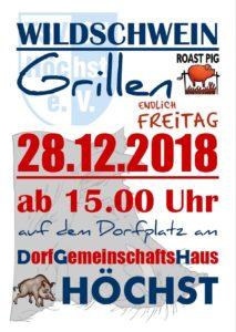 Wildschweingrillen @ Dorfplatz am DGH