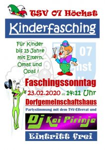 Kinderfasching 2020 @ Dorfgemeinschaftshaus Höchst