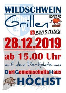 Wildschweingrillen 2019 @ Dorfplatz am Dorfgemeinschaftshaus Höchst